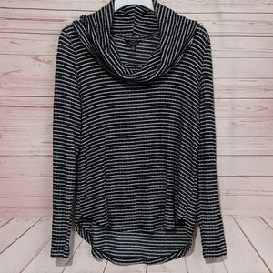 SALE Lucky Brand Cloud Jersey Rib Stripe Cowl Top
